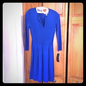 NWT French Connection Royal Blue Skater Dress $148